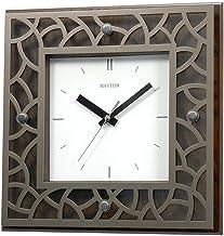 Rhythm Square Decorative Wood Wall Clock CMG998NR06 Brown/White