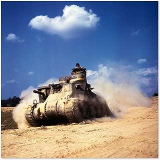 Palmer War WWII USA M3 Lee Tank 1942 Photo Premium Wall Art Canvas Print 24X24 Inch