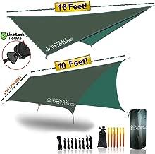 13 Foot Rain Fly for Hammock –Light Weight, Diamond-Ripstop Polyester, Hammock Rainfly- 2000 PU Backpacking Tarp, Waterproof Eno Rain Cover– Rainfly Tent Tarp