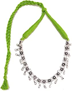 Ethnic Choker Necklace with oxidised Silver Metal ghungroo Beads