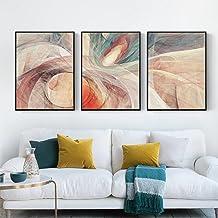 Abstracte steen geometrische patroon decoratie 3 stuks canvas schilderij kunst kunst kunst poster foto muur schilderij woo...