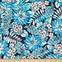 Robert Kaufman 0567775 Kaufman London Calling Lawn Blue Flowers Fabric by The Yard,