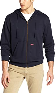 Dickies Mens Lightweight Zip Up Fleece Hoodie, Color Options