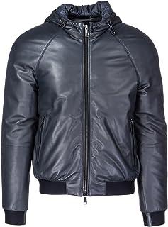 Emporio Armani Men's Designer Leather Jacket