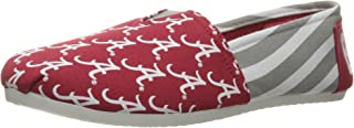 FOCO NCAA Womens College Canvas Stripe Slip On Shoes