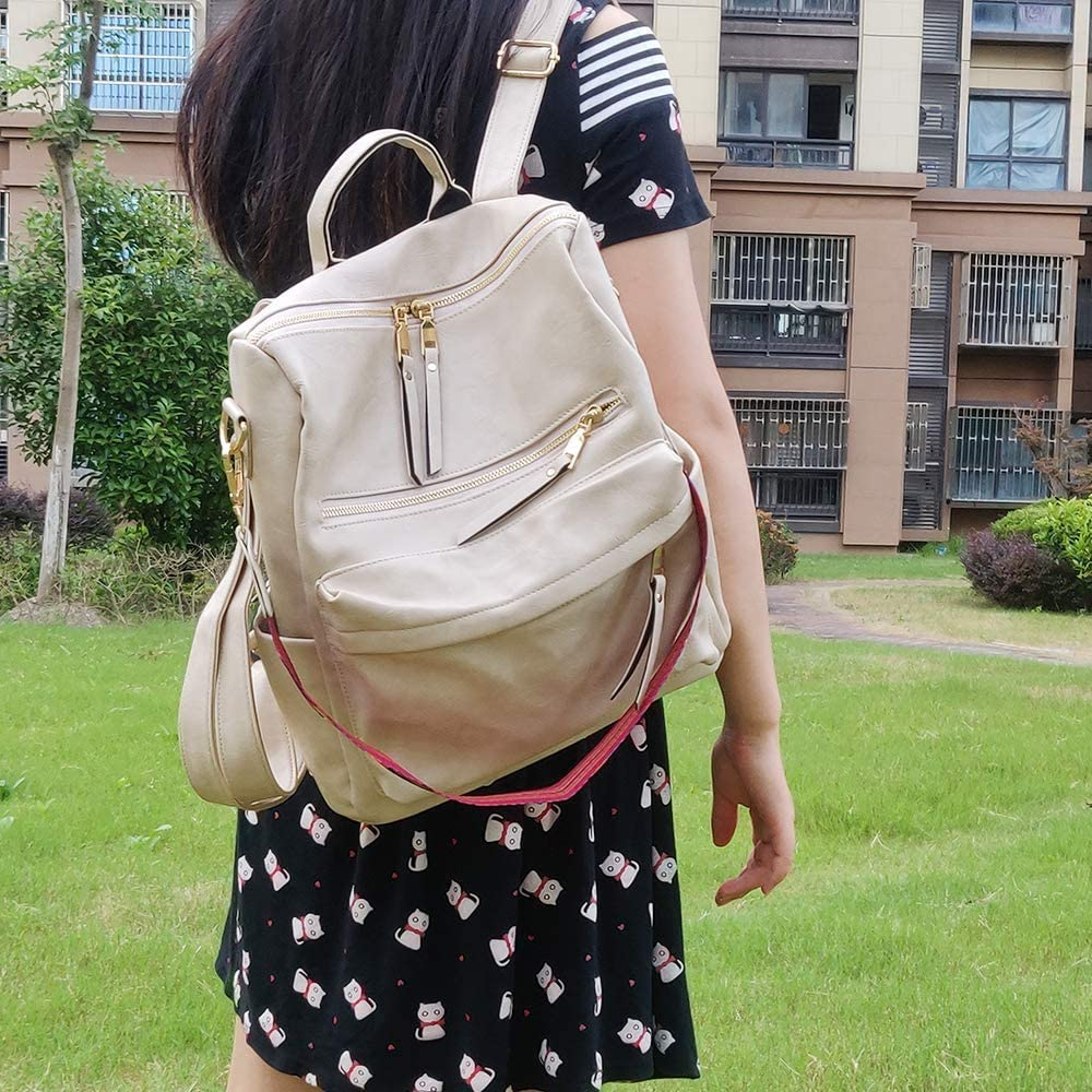 Convertible Daypack Colorful Strap Shoulder Handbags Free one Shoulder strap Women Fashion Backpack Purse