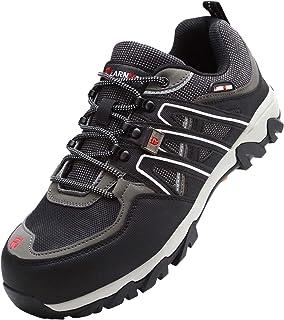 LARNMERN LERMERN Chaussure de Securité Anti Ponction,Chaussures de Travail Sportives avec Embout Acier Protection Antidéra...
