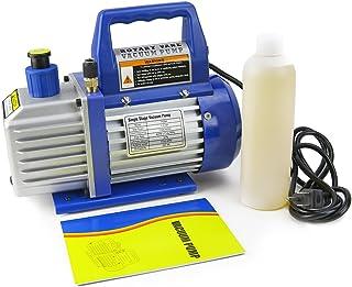 XtremepowerUS 1/3 HP Single Stage Rotary Vane Vacuum Pump 4 CFM Air Conditioner Refrigeration HVAC Air AC A/C R410a R134