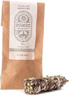 Shamans Market Black Sage Smudge Sticks - Mini -3 in