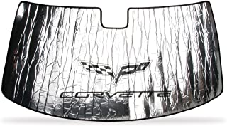 Corvette 2005-2013 C6 Logo Custom Fit Front Windshield Sun Shade