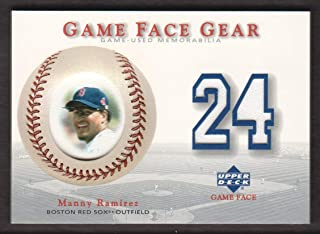 2003 Upper Deck Game Face Baseball Gear #MR Manny Ramirez JERSEY Boston Red Sox
