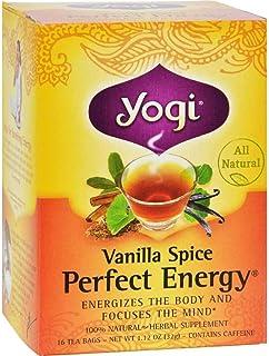 Yogi Tea Co Vanilla Spice Perfect Energy Herbal Tea - 16 bags per pack - 6 packs per case.