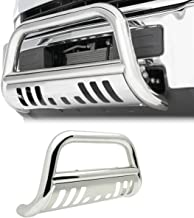 4X4TAG Premium Quality Mirror Polish Stainless Steel Bull Bar Fits Ford F150 2004-2018 (Bumper Grille Guard with Skid Plate and Optional Light Holes)