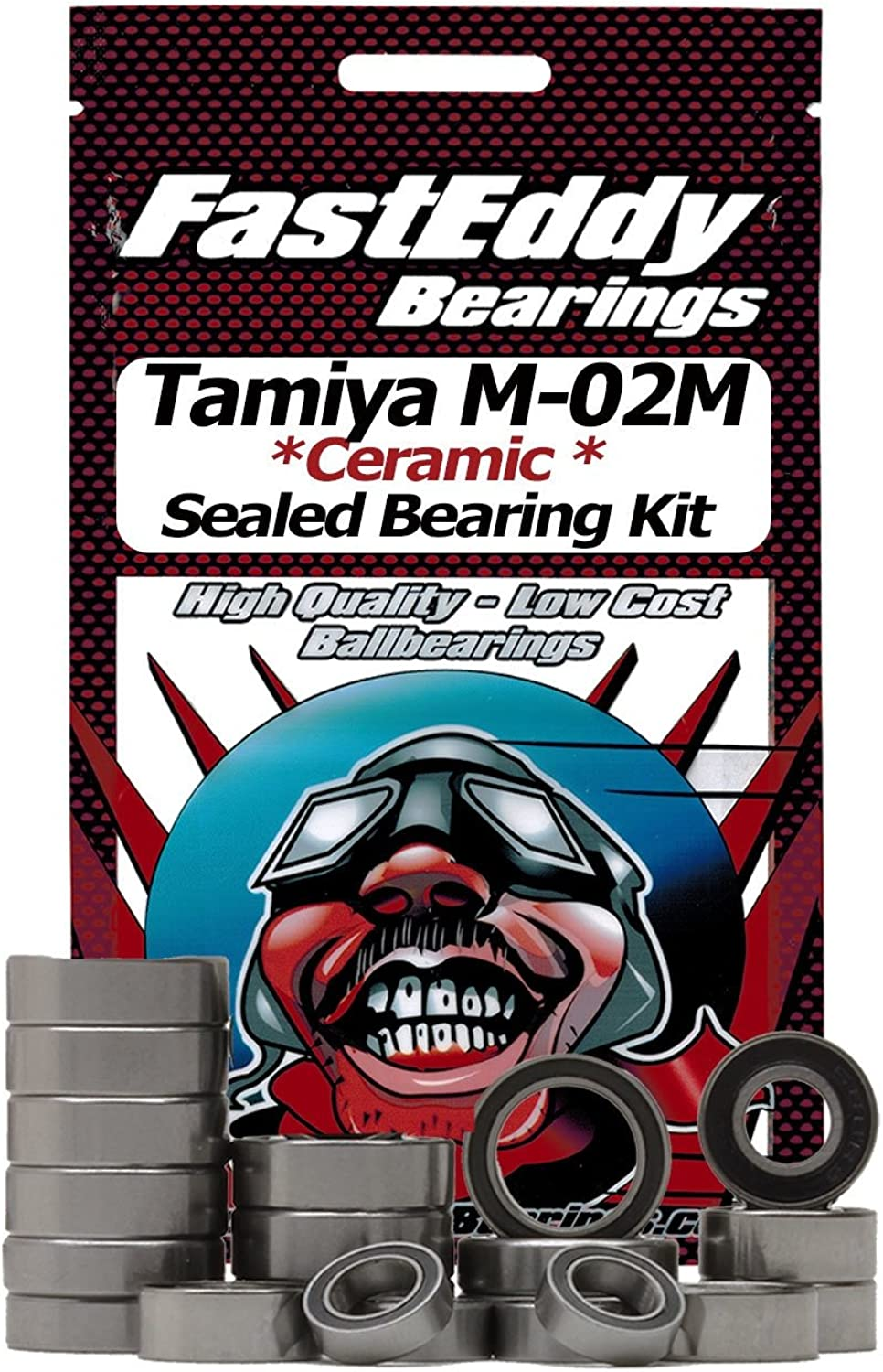 Tamiya M02M Chassis Ceramic Rubber Sealed Ball Bearing Kit for RC Cars
