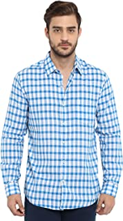 Mufti Men's Checkered Slim fit Casual Shirt (MFS-9547-H-WHITE-BLUE- Multicolor_3XL)