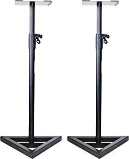 Pair of Ignite Pro Heavy Duty Near-Field Studio Monitor Speaker Stands Adjustable Height