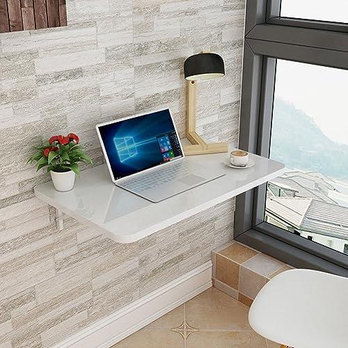 WNX Klappbarer Wandtisch Tisch aus Holz Faltbarer Schreibtisch Wandtisch Esstisch Computertisch Arbeitstisch Wand- Klapptisch Weiß (Größe   90  50cm)