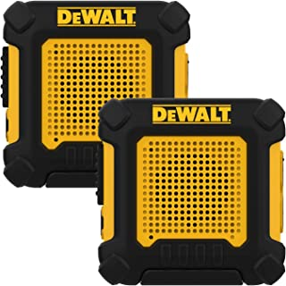 DEWALT DXFRS220 Wearable Walkie Talkies Heavy Duty Business Two-Way Radios, Hands Free, 1W of Power, Ultra Long Range Distance (Pair)