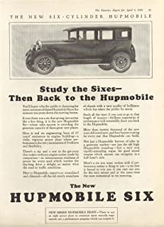 Study the Sixes - Then Back to Hupmobile ad 1926