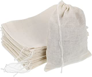 Pangda 30 Pack Cotton Muslin Bags Drawstring Bags, 7 by 5 Inches