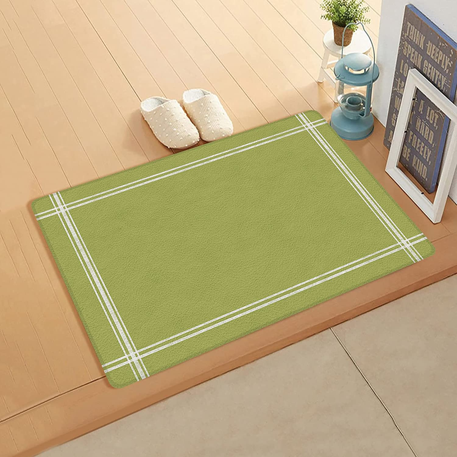 Cushioned Anti Ranking TOP7 New product!! Fatigue Kitchen Mat Lightweigh Color Green Solid
