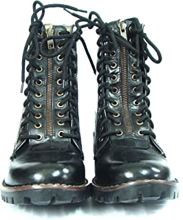ASM Soft Black Leather Light Weight Flying Boots for Pilots. with TPR Sole & Memory Foam Cushioning for Men & Women Article A610 6 to 11