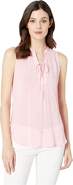 2912 Textured Rayon Crepe Tank Top