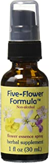 Flower Essence Services Five Flower Formula in Glycerin Spray, 1 Ounce