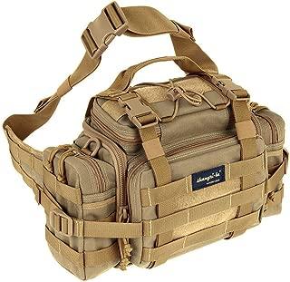 Tactical Assault Gear Sling Pack Range Bag Hiking Fanny Pack Waist Bag Shoulder Backpack EDC Camera Bag MOLLE Modular Deployment Compact Utility Military Surplus Gear Heavy Duty with Shoulder Strap