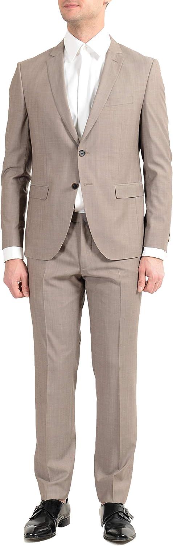 Hugo Boss Reymond/Wenten Men's 100% Wool Beige Two Button Suit US 44L IT 54L