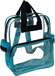 "ProEquip Travel Bag Clear Unisex Transparent School Security Backpack (15"" CBP3121 - Clear/Teal)"