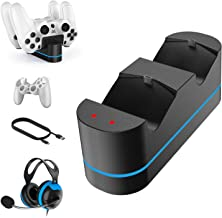 $23 » Charger for PS4 Controller, Fast Charging Dual Interface Charger for Sony Playstation 4 / PS4 / Pro / PS4 Slim Controller,...