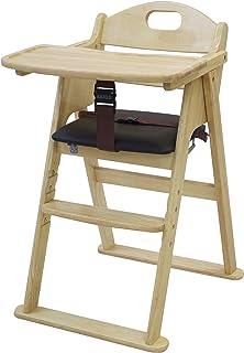 カトージ 木製ワイドハイチェア ステップ切り替え ナチュラル 22408