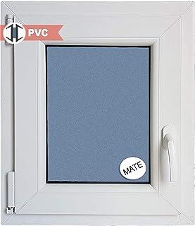Ventana PVC Practicable Oscilobatiente Izquierda 500 ancho x 600 alto 1 hoja con vidrio Carglass (Climalit Mate)