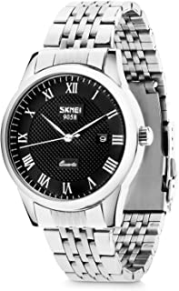 Men's Quartz Watch, Aposon Classic Business Casual Wrist Analog Watches Roman Numeral Dress Waterproof Watch with Stainless Steel Band