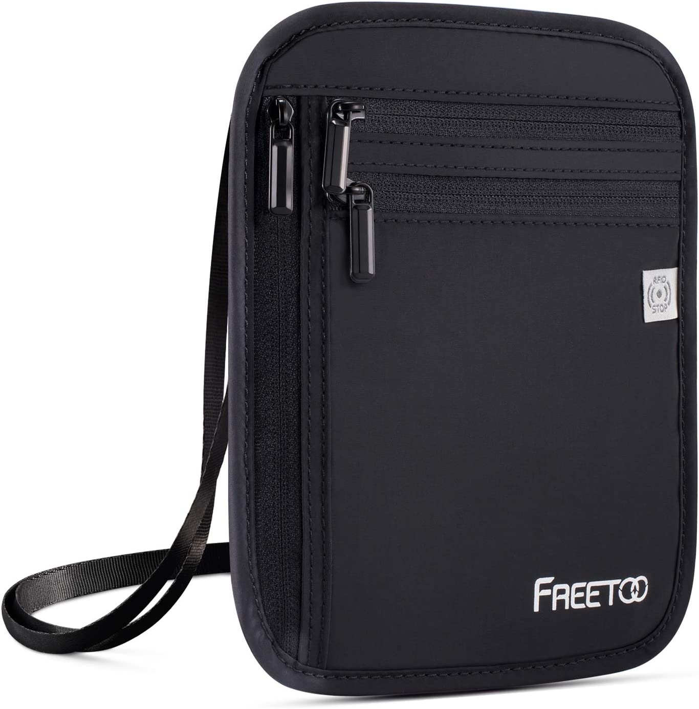 FREETOO Neck Wallet Travel Blocking Pouch RFID Max 63% OFF Overseas parallel import regular item Wall