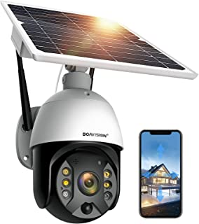 Outdoor Security Camera,Solar Powered Battery WiFi Camera Wirefree Outdoor 1080P Pan Tilt Wireless Camera PIR Motion 2 Way...