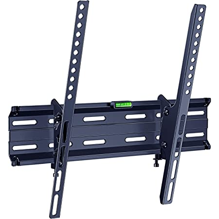 ERGO TAB Tilt TV Wall Mount Bracket Low Profile Fits Most 26-55 Inch LED LCD OLED Flat Curved Screen TV with 16 Inch Studs VESA 400x400mm, Holds up to 99 lbs, Black