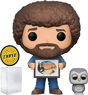 Funko Pop! Television: Bob Ross - The Joy of Painting with Hoot The Owl Chase Limited Edition #561 Vinyl Figure (Bundled with Pop Box Protector Case)