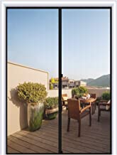 MAGZO Magnetic Screen Door 40 x 96, Reinforced Fiberglass Mesh Curtain Front Door Mesh with Full Frame Hook&Loop Fits Door Size up to 40