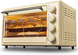 30L Retro Mini Horno Eléctrico,Hogar Multifuncional Torta Hornada Automático, Control De Temperatura Ajustable,60 Min Timer,1600W