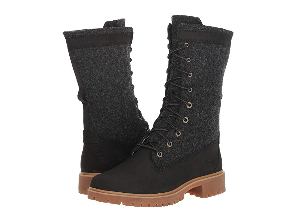 Timberland Jayne Warm Gaiter Boot (Black Nubuck) Women