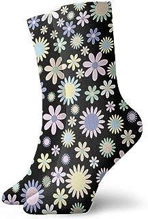 tyui7, Calcetines de compresión con estampado floral de flores Calcetines de compresión antideslizantes Calcetines deportivos de 30 cm para hombres, mujeres, niños