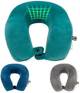 Oreiller de voyage Soundsleep - Doux et confortable - En mousse à mémoire de forme - Soutien de la tête et du cou - Housse...