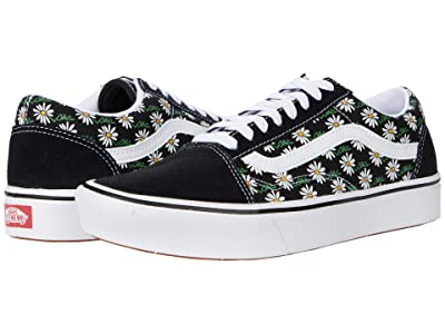 Vans Comfycush Old Skool ((Scribble Flower) Daisy/Black) Athletic Shoes