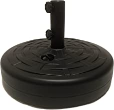 Umbrella Base by Sundaze: Umbrella Stand w/ 2 SET SCREWS Black 50lbs Water or Sand