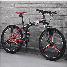 YCHBOS Bicicleta Montaña Adulto Doble Suspension 24/26 Pulgadas, Bici Montaña Plegable Adulto Hombre y Mujer, Doble Freno de Disco, Amortiguador Hidráulico, 27 VelocidadesC-26 Inch