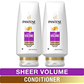 Pantene, Sulfate Free Conditioner, Pro-V Sheer Volume for Fine Hair, 24 fl oz, Twin Pack