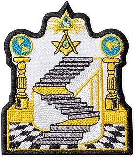 Masonic Emblem Embroidered Patch Iron On (3.2
