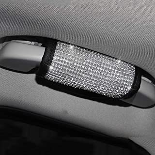 U&M Bling Bling Auto Safety Door Handle Cover, Luster Crystal Car Protective Handle Cover Diamond Car Decor Accessories (Handle Cover)